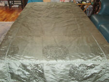 Chinese Silk Brocade Bedspread Antique/Vintage Fitted Lined