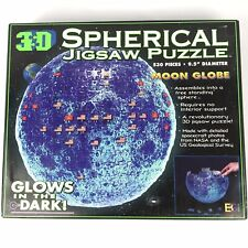 3D Spherical Moon Jigsaw Puzzle with Stand Glow In The Dark 530 Pieces BGI EUC