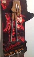 Lot of 4 Nightmare Elm Street Freddy Krueger Glove Chopsticks Horror Food