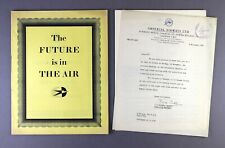 More details for imperial airways the future is in the air films brochure & programme & letter