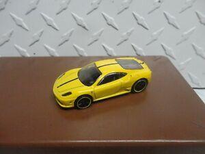 Loose Hot Wheels Yellow Ferrari 430 Scuderia