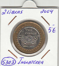 F5303 MONEDA INGLATERRA 2 LIBRAS 2004