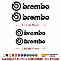 4X PEGATINA BREMBO PINZAS DE FRENO 15  11 CM COCHE OPEL VINILOS ADHESIVO STICKER