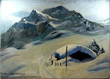 Gemälde FRITZ ROTHMAIER Winter Landschaft Oberpinzgau Salzburg Österreich Ölbild