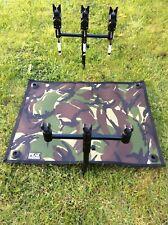 Carp fishing reel splash mat ground sheet made from camo cordura 500 x 400mm