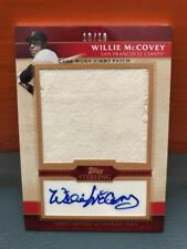 2010 Topps Sterling Willie McCovey Jumbo Patch And Auto #'d 10