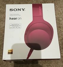 Sony MDR-100AAP h.ear on High Resolution Overhead Headphones - Pink
