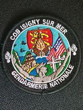 Ecusson brodé gendarmerie COB ISIGNY SUR MER