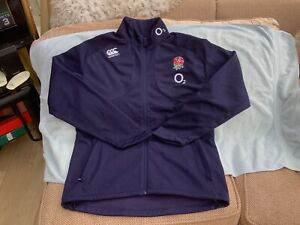 Canterbury England Rugby Union Full Zip Shell Fleece Jacket Size Large Worn Once