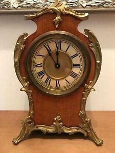 Antik Uhr Kaminuhr Tischuhr Pfeilkreuz Württemberg mit Bronze Mess Applikationen
