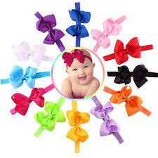 12PC Baby Girls Elastic Bowknot Flower Hairband Photography Headbands Hoc