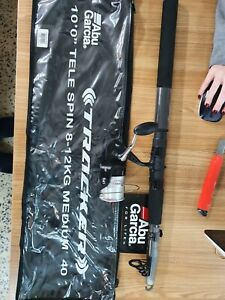 Abu Garcia Tracker Telescopic Travel Fishing Rod and Reel Combo 10' 8-12kg +Case