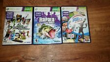3 KINECT GAME LOT(DECA SPORTS FREEDOM, RAPALA 4 KINECT & GAME PARTY IN MOTION)