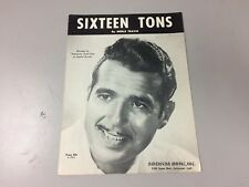 """Vintage Sheet Music : """"Sixteen Tons"""" Tennessee Ernie Ford 1947"""
