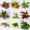Indoor Outdoor Simulation Fake Leaf Flowers Plants Plastic Artificial Office