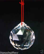 """30mm 1.2"""" FENG SHUI HANGING CRYSTAL BALL Sphere Prism Rainbow Sun Catcher NEW"""