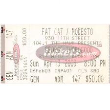 George Thorogood Concert Ticket Stub Modesto 4/13/03 California The Fat Cat Rare
