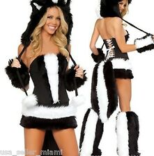 Sexy Skunk Halloween Costume -146- Cosplay Woman's Christmas Outfit Hat Small S