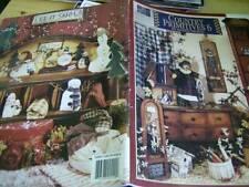 Country Primitives 6 Painting Book Christmas Santas, Snowmen, Teddy Bears, Dolls