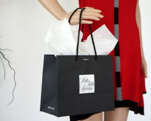 SAKS FIFTH AVE Black/White Signature Shopping GIFT Tote BAG w/Tissue Paper New