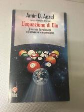 LIBRO L'EQUAZIONE DI DIO EINSTEIN RELATIVITA' L'UNIVERSO ACZEL NET 2000