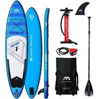 Aqua Marina Inflatable Triton Stand Up Paddle Board SUP ISUP Paddel Surf SET NEU
