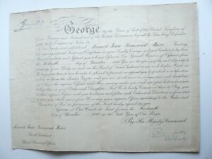 King George V Commission for Lieutenant Leonard I T Hewer Royal Flying Corps RFC