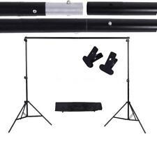 Adjustable Background Stand Crossbar Kit with two Clamps Photo Video Studio Kit