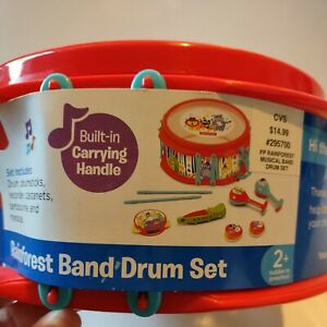 Fisherprice Rainforest Band Drum Set with Built in Carrying Handle
