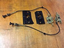 Ford Sierra Sapphire Rear Seat Latch Mechanism Kit/Pull Cables And Covers