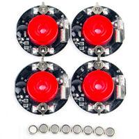 4pcs Red Wheel Discs LED Light For 1:10 RC On-Road Drift Night Racing Model Car