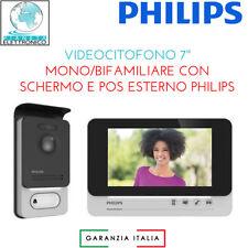VIDEOCITOFONO 7'' MONO/BIFAMILIARE CON SCHERMO E MODULO ESTERNO PHILIPS