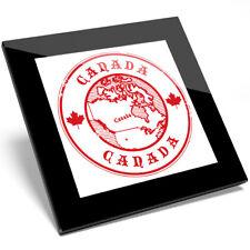 1 x Canada Maple Leaf Ottawa Map Glass Coaster - Kitchen Student Gift #4582