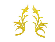 1 x Lurex Gold Applikationen Patch Medieval?Renaissance?ArtNr:13-2G