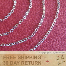 Sterling Silver Chain 2mm 8 FT Italian cable chain sold in bulk making necklace