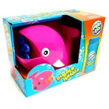 Whale Shape Bubble Machine with Bubble Liquid - Assorted Colour - Garden Fun