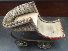 Antique Doll Buggy Sleigh Stroller for parts or repair Steam Punk
