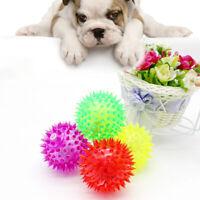 Plastic Light-Up Spikey Dog / Cat Balls LED Flashing Spiky Bumpy Sensory Fun Toy