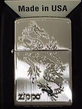 Zippo Engraved Dragon High Polished Chrome 250-38900