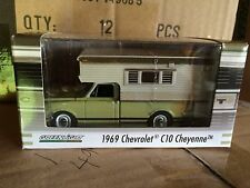 Greenlight  1969 Chevy Cheyenne C10 Truck  w/ Camper  Light Green