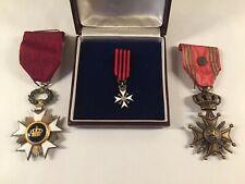 3 Décorations médailles militaire Belges / Belgique Léopold