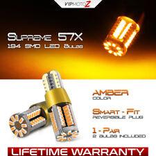 """BRIGHT AMBER"" 194 168 T10 LED DRL Lamp High Power Parking Light Bulbs 2825 192"