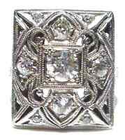 .80CT ROUND OLD MINE DIAMOND SQUARE ART NOUVEAU DECO PLATINUM ESTATE WOMENS RING
