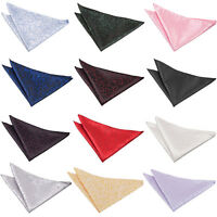 Handkerchief Hanky Woven Swirl Mens Formal Accessories FREE Pocket Square by DQT