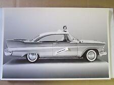 "1958 Plymouth Savoy 2 Door Hardtop 12 X 18"" Black & White Picture"