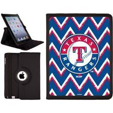 Texas Rangers - Sketchy Chevron design on Black 2nd-4th Generation iPad Swivel S