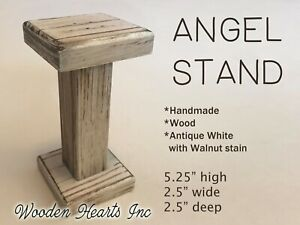 ANGEL STAND WOOD -Compatible with Willow Tree Angel Nativity (not included)