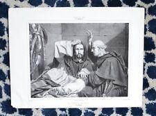 Lithographie XIX ème - La Confession du Giaour - Henri Charles Antoine Baron
