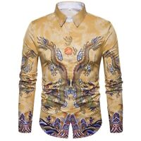 Fashion Mens Long Sleeve Blouse Luxury Top New Stylish Slim Fit Casual T Shirt