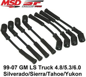MSD 5574 Street Fire Spark Plug Wire Set Fits LS Truck Engines 99-07 4.8/5.3/6.0